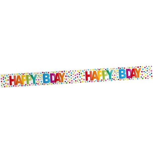 Markeerlint Happy birthday dots 15m