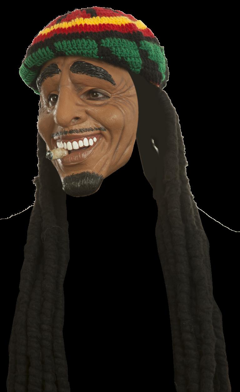 Masker rasta man met joint