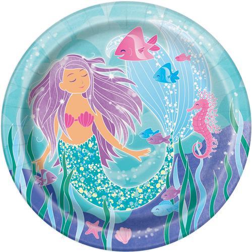 Mermaid bordjes 8st