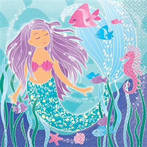 Mermaid servetten 16st