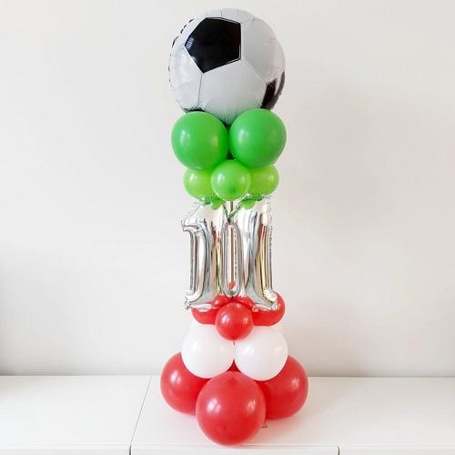 Mini pilaar met twee folieballonnen