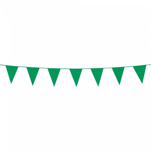 Mini vlaggenlijn groen 3m