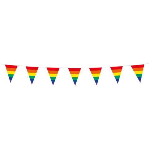 Mini vlaggenlijn regenboog 3m