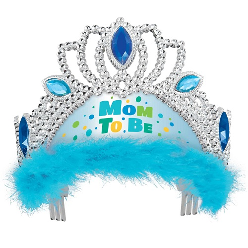 Mom to be tiara blauw