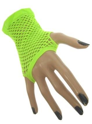 Nethandschoenen kort neon groen