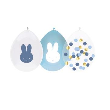 Nijntje ballonnen baby blauw 5st