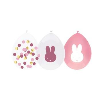 Nijntje ballonnen baby roze 5st