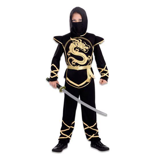 Ninja pak kind Golden Ninja - 10-12 jaar 140-155 cm