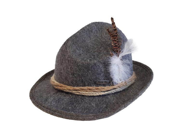 Oktoberfest Alpen hoed grijs