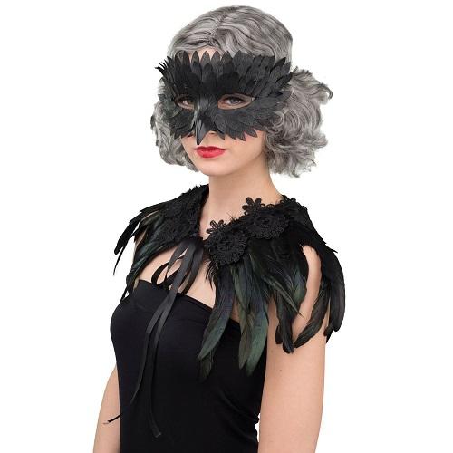 Oogmasker zwarte raaf