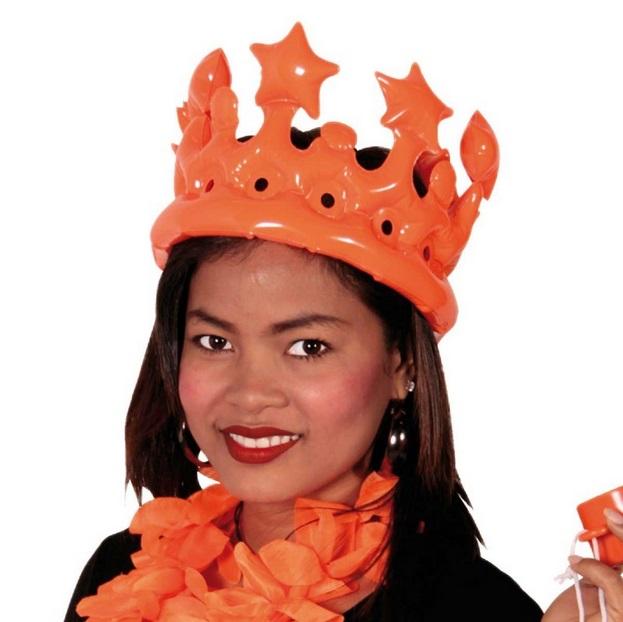 Opblaas kroon oranje