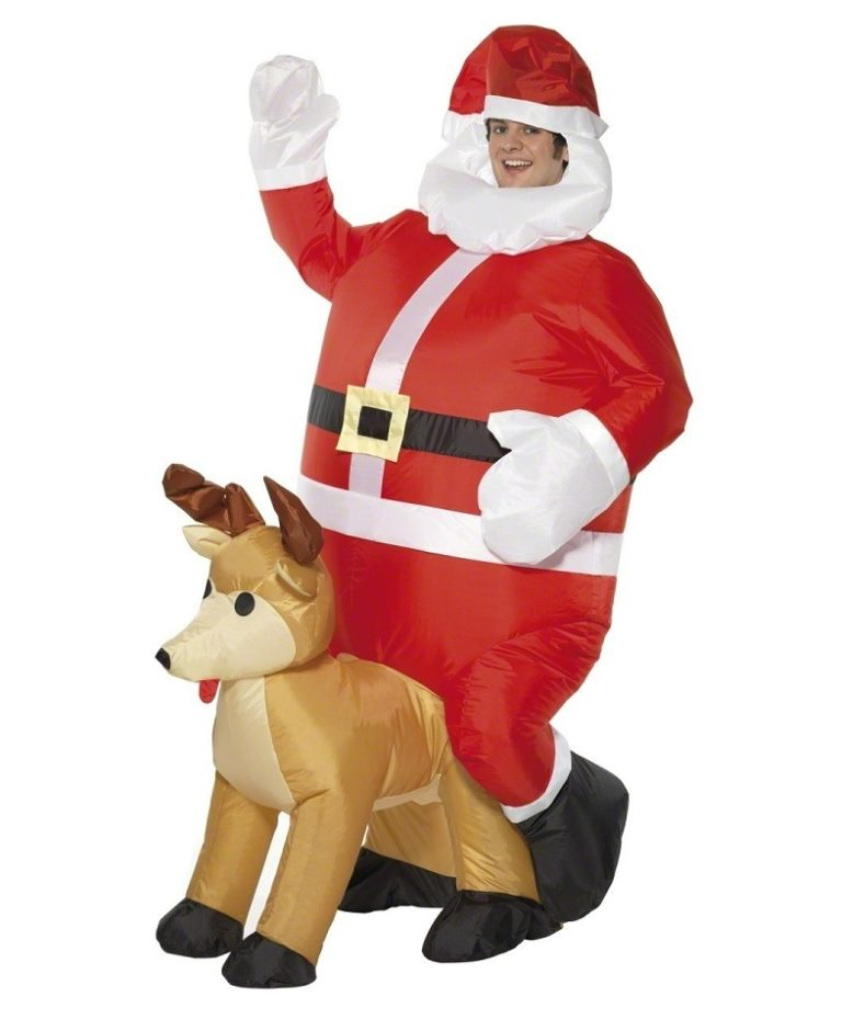 Opblaasbare kerstman kostuum