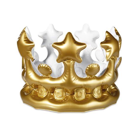 Opblaasbare kroon goud