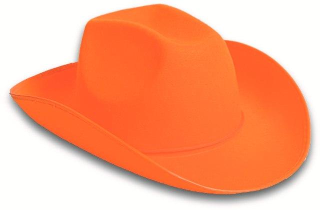 Oranje Cowboy hoed vilt