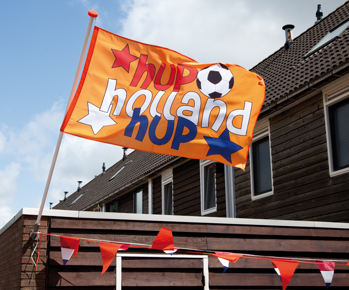 Oranje gevelvlag Hup Hup
