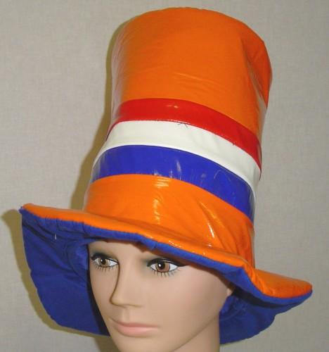 Oranje hoed superhoog normaal  9,95