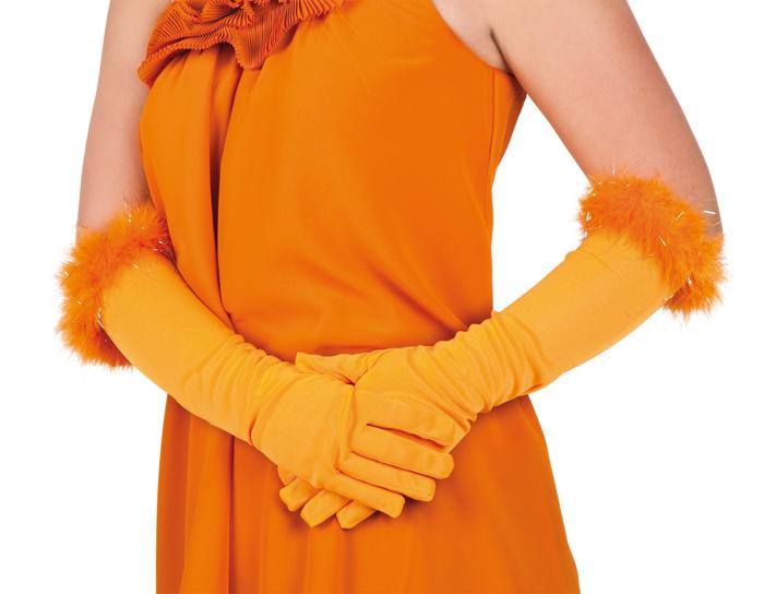 Oranje prinses handschoen