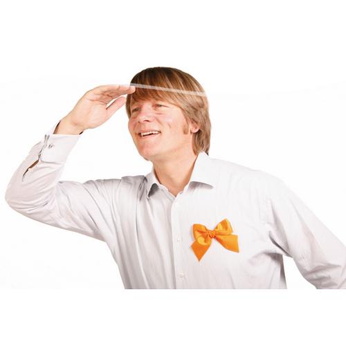 Oranje strik broche