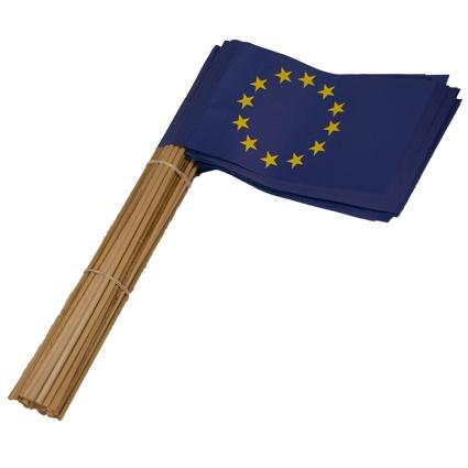 Papieren zwaaivlaggetjes Europa