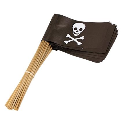 Papieren zwaaivlaggetjes piraat