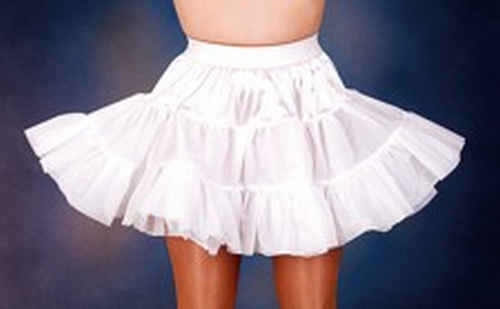 Petticoat 2-laags wit - 44/46
