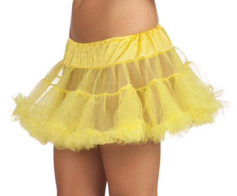 Petticoat kort geel