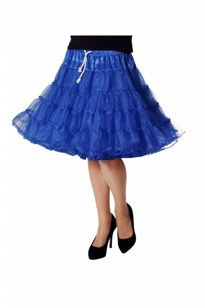 Petticoat luxe 2 laags blauw