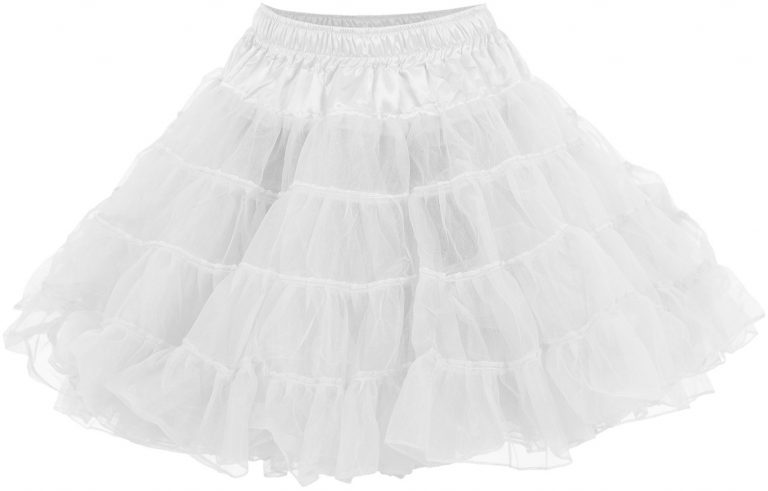 petticoat luxe 2 laags wit