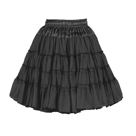 Petticoat luxe 2-laags zwart