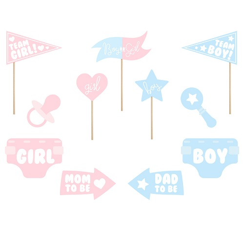 Photo booth props gender reveal 11st