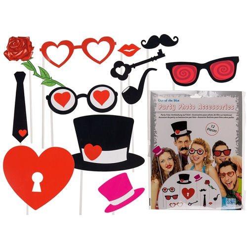 Photo booth props heart 12st
