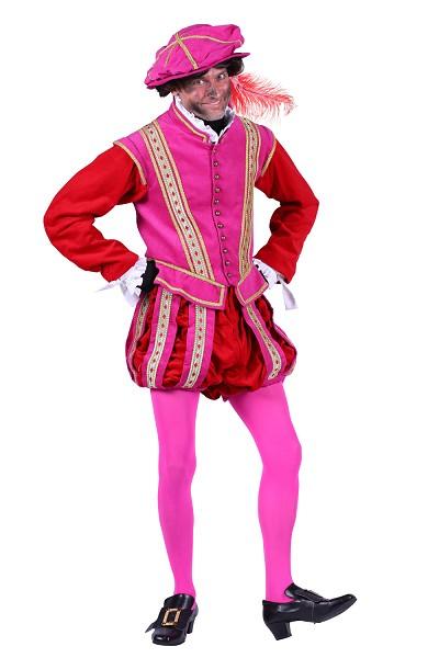 Piet kostuum Amsterdam roze-rood - S