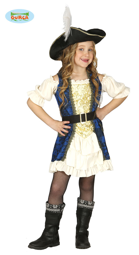 Piraten jurkje kind - 5-6 jaar
