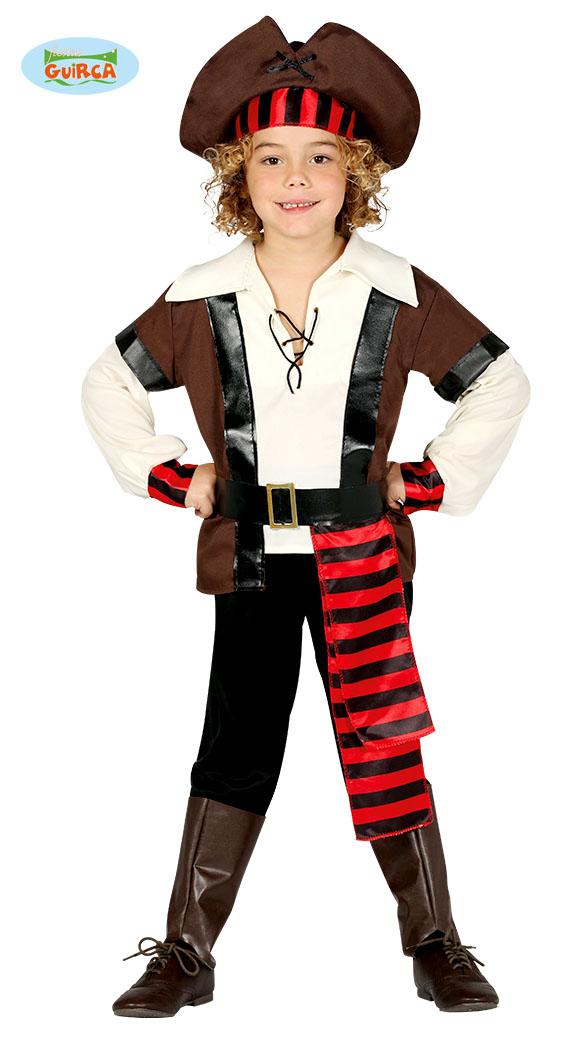 Piratenpak kind Zeven zeeen - 7-9 jaar