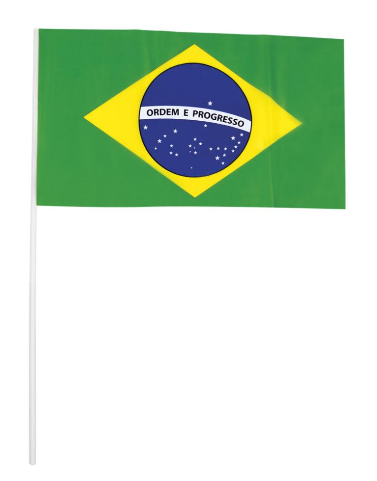 Plastic zwaaivlaggetjes Brazilie