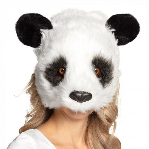 Pluchen halfmasker panda