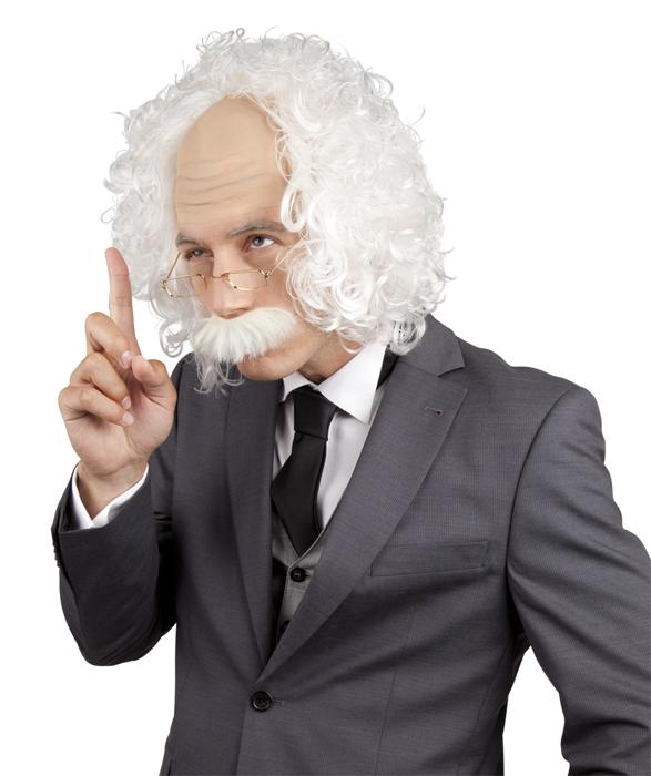 Professor pruik snor bril