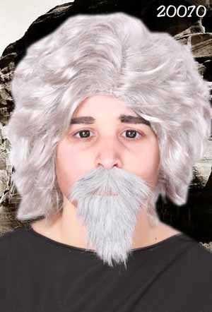 Professor snor en baard grijs