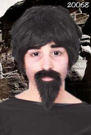 Professor snor en baard zwart