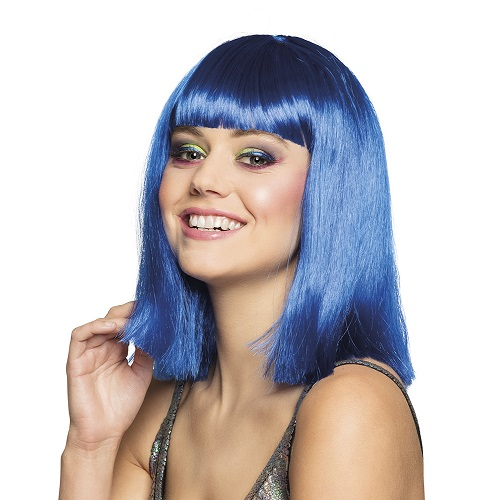 Pruik Dance blauw
