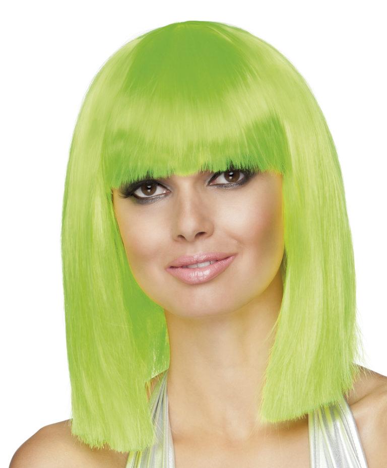 Pruik Dance neon groen