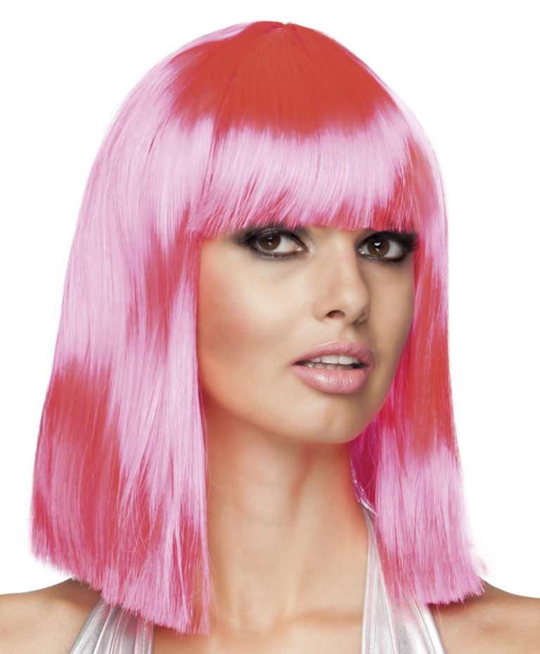 Pruik Dance neon roze