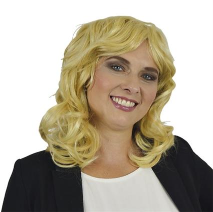 Pruik Linda blond