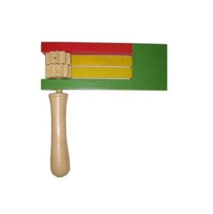 Ratel hout rood/geel/groen