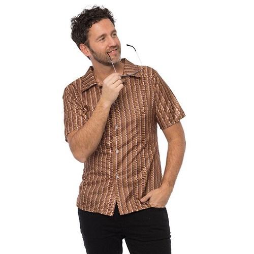 Retro 70's shirt bruin