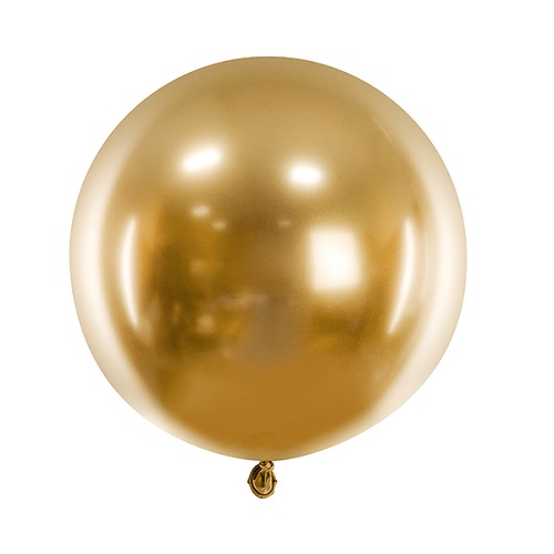 Reuze ballon chrome goud 60cm