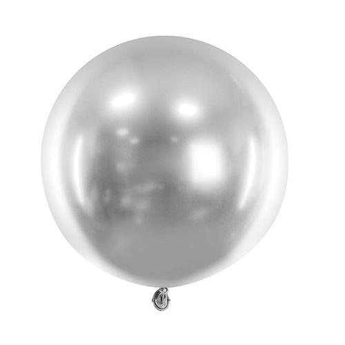Reuze ballon chrome zilver 60cm