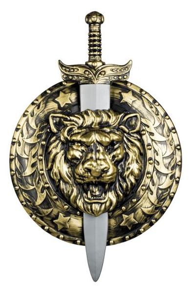 Ridder zwaard met schild groot