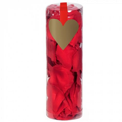 Rozenblaadjes rood in koker