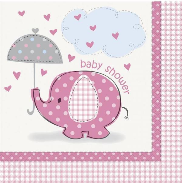 Servet Baby Shower Roze